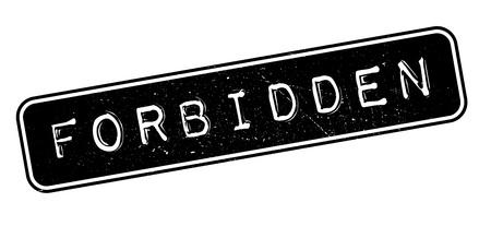 admittance: Forbidden rubber stamp on white. Print, impress, overprint.