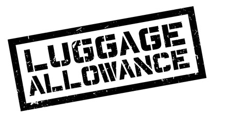 Luggage Allowance rubber stamp on white. Print, impress, overprint. Illustration