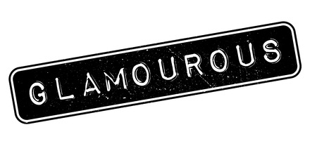 glamourous: Glamourous rubber stamp on white. Print, impress, overprint.