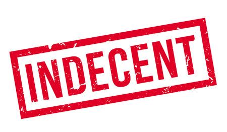 ignorant: Indecent, rubber stamp on white. Print, impress, overprint. Illustration