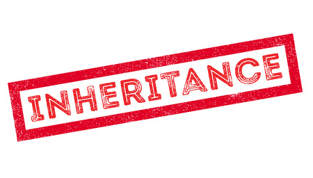 the settlement: Inheritance, rubber stamp on white. Print, impress, overprint.