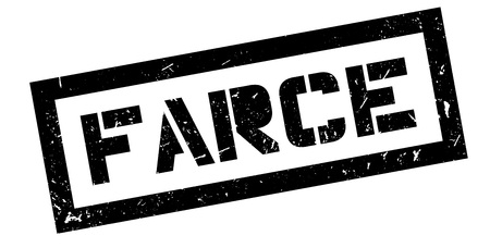 unprofessional: Farce rubber stamp on white. Print, impress, overprint.