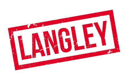 Langley rubber stamp on white. Print, impress, overprint. Illustration