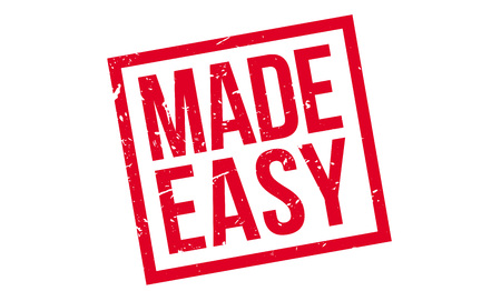 undemanding: Made Easy rubber stamp on white. Print, impress, overprint. Illustration