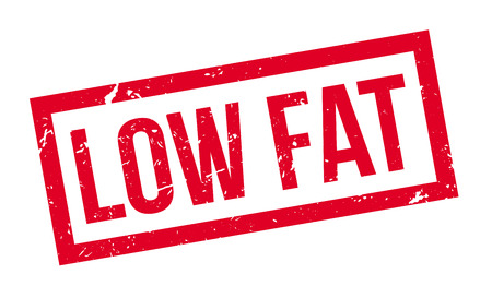 low fat: Low Fat rubber stamp on white. Print, impress, overprint. Illustration