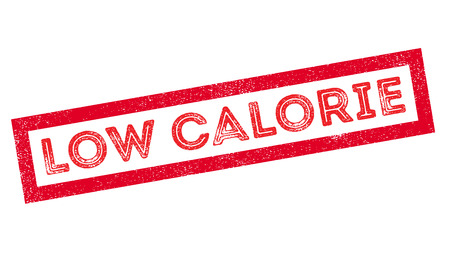 calorie: Low Calorie rubber stamp on white. Print, impress, overprint. Illustration