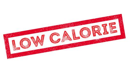salt free: Low Calorie rubber stamp on white. Print, impress, overprint. Illustration