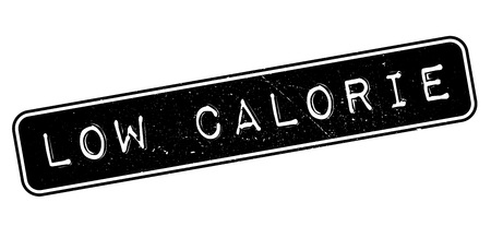 Low Calorie rubber stamp on white. Print, impress, overprint.