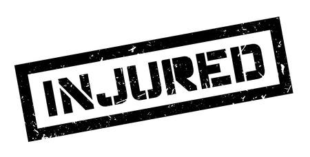 setback: Injured, rubber stamp on white. Print, impress, overprint.