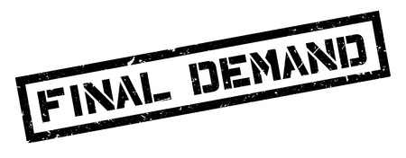 demand: Final Demand rubber stamp on white. Print, impress, overprint.