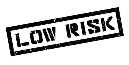 unsafe: Low Risk rubber stamp on white. Print, impress, overprint. Illustration