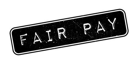 Fair Pay rubber stamp on white. Print, impress, overprint.