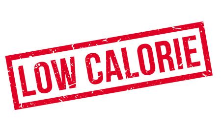 Low Calorie rubber stamp on white. Print, impress, overprint. Illustration