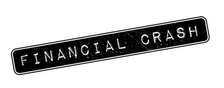 credit crunch: Financial Crash rubber stamp on white. Print, impress, overprint.