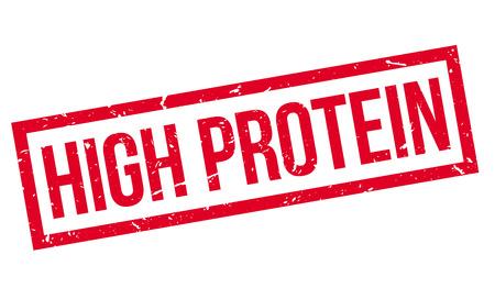 erect: High Protein, rubber stamp on white. Print, impress, overprint. Illustration