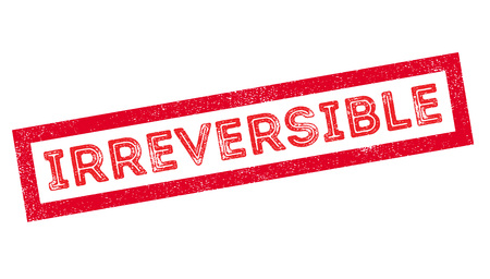 incurable: Irreversible, rubber stamp on white. Print, impress, overprint.