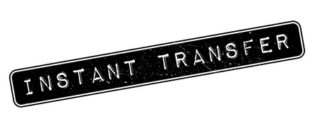 Instant Transfer, rubber stamp on white. Print, impress, overprint. Ilustração