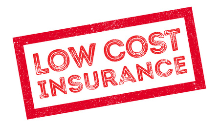 reassurance: Low Cost Insurance rubber stamp on white. Print, impress, overprint. Illustration