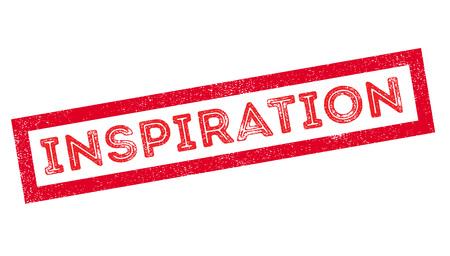 provoke: Inspiration, rubber stamp on white. Print, impress, overprint. Illustration