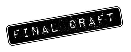 conclusive: Final Draft rubber stamp on white. Print, impress, overprint. Illustration