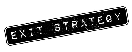 escape plan: Exit Strategy rubber stamp on white. Print, impress, overprint.