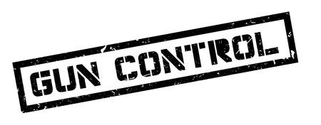 gun control: Gun Control rubber stamp on white. Print, impress, overprint.