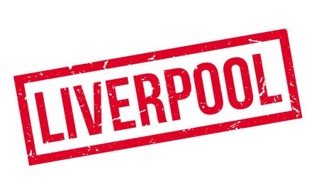 liverpool: Liverpool rubber stamp on white. Print, impress, overprint.