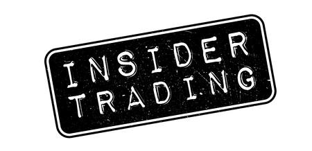 insider: Insider Trading, rubber stamp on white. Print, impress, overprint.