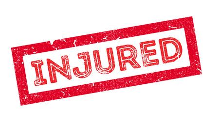 bruise: Injured, rubber stamp on white. Print, impress, overprint.