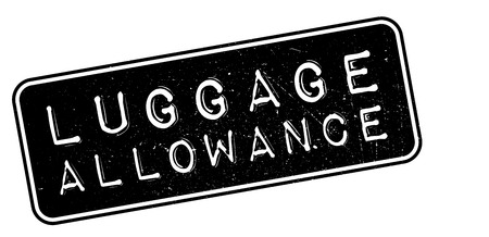 allowance: Luggage Allowance rubber stamp on white. Print, impress, overprint. Illustration