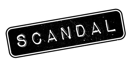 scandal: Scandal rubber stamp on white. Print, impress, overprint.