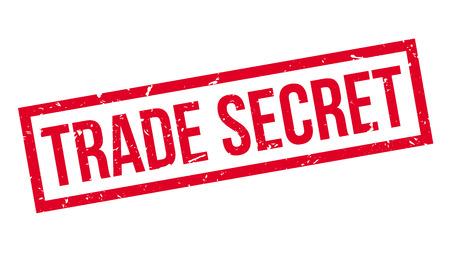 trade secret: Trade Secret rubber stamp on white. Print, impress, overprint.