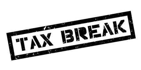 tax policy: Tax Break rubber stamp on white. Print, impress, overprint. Illustration