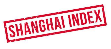 index: Shanghai Index rubber stamp on white. Print, impress, overprint. Illustration