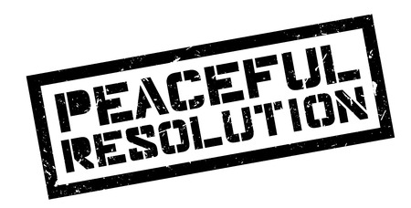 neutrality: Peaceful Resolution rubber stamp on white. Print, impress, overprint.
