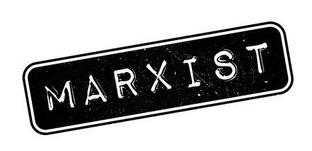 marxism: Marxist rubber stamp on white. Print, impress, overprint.