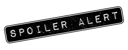 spoiler: Spoiler Alert rubber stamp on white. Print, impress, overprint.