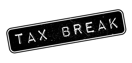 taxman: Tax Break rubber stamp on white. Print, impress, overprint. Illustration