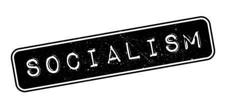 socialism: Socialism rubber stamp on white. Print, impress, overprint.