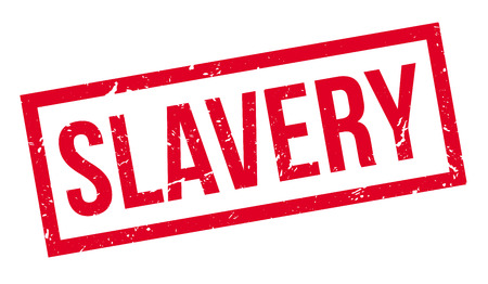 slavery: Slavery rubber stamp on white. Print, impress, overprint.
