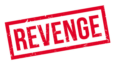 vengeance: Revenge rubber stamp on white. Print, impress, overprint. Illustration