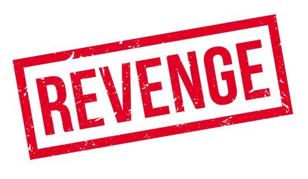 revenge: Revenge rubber stamp on white. Print, impress, overprint. Vectores