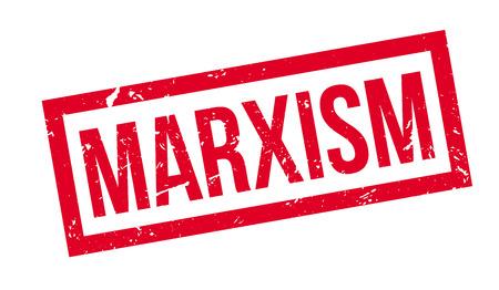 socialist: Marxism rubber stamp on white. Print, impress, overprint.