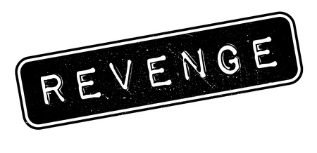Revenge rubber stamp on white. Print, impress, overprint. Illustration