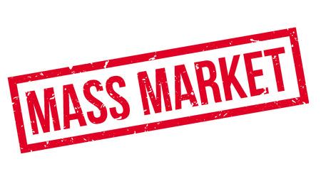 majority: Mass Market rubber stamp on white. Print, impress, overprint. Illustration