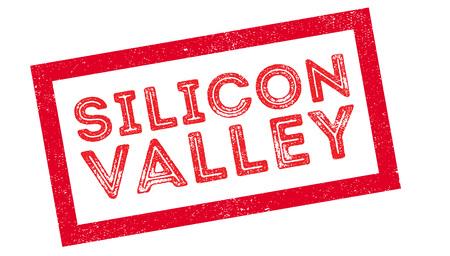 silicon: Sello de goma de Silicon Valley en blanco. Imprimir, impresionar, sobreimpresión.