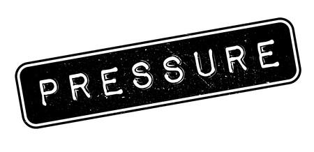 heaviness: Pressure rubber stamp on white. Print, impress, overprint.