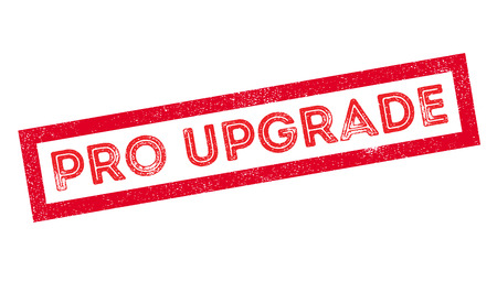 refreshed: Pro Upgrade rubber stamp on white. Print, impress, overprint. Illustration