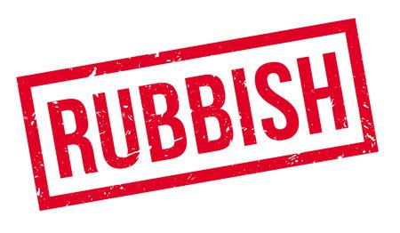 untrue: Rubbish rubber stamp on white. Print, impress, overprint. Illustration