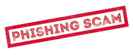 observant: Phishing Scam rubber stamp on white. Print, impress, overprint.